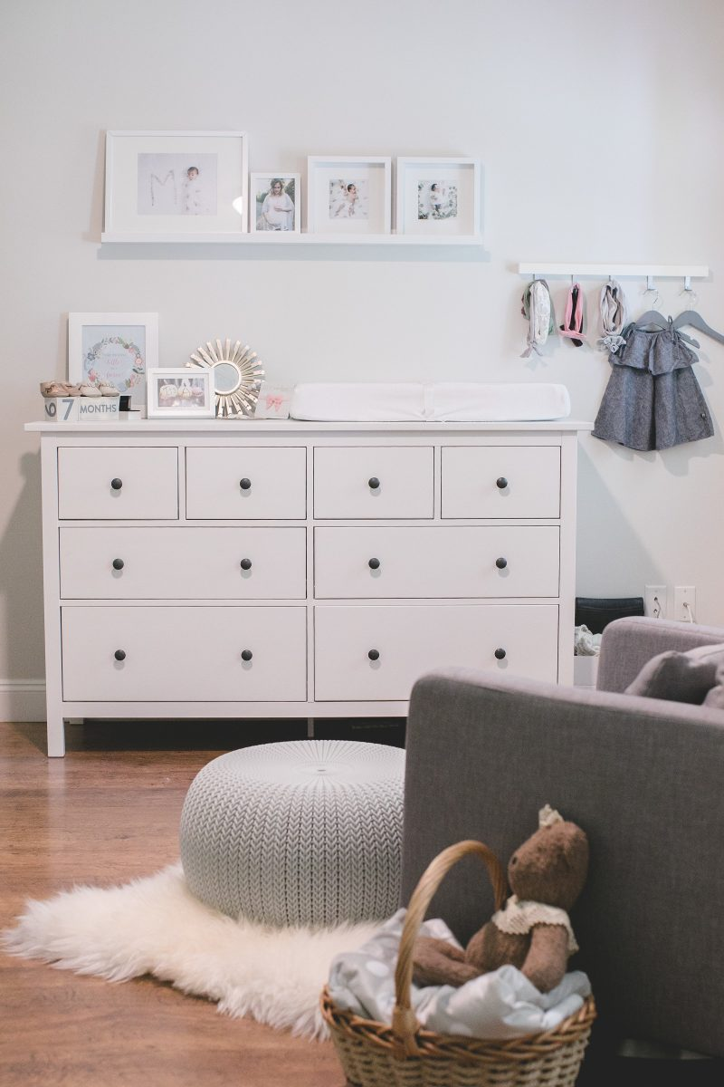 Mila's grey and white nursery