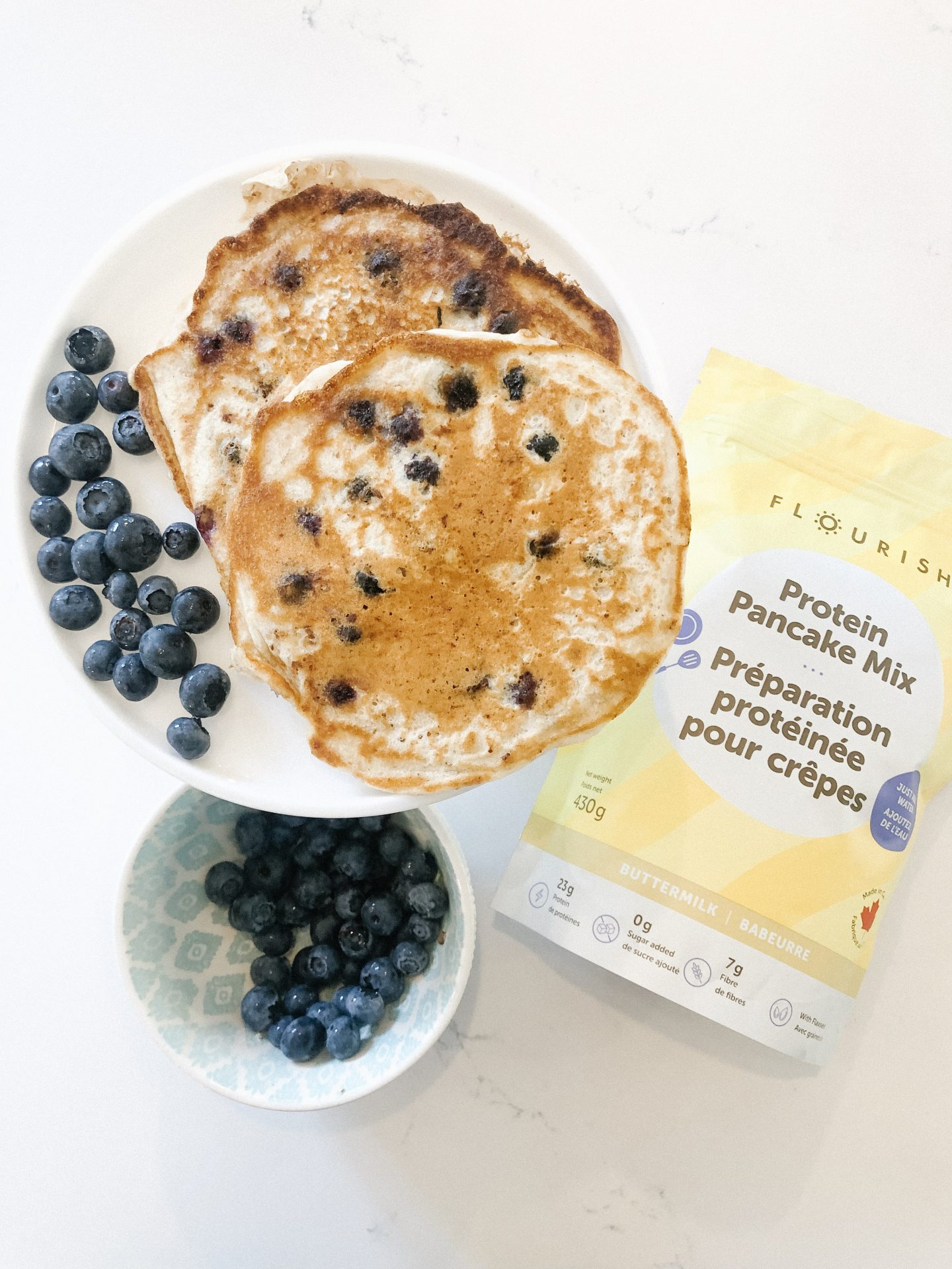 Protein Packed Blueberry Pancakes