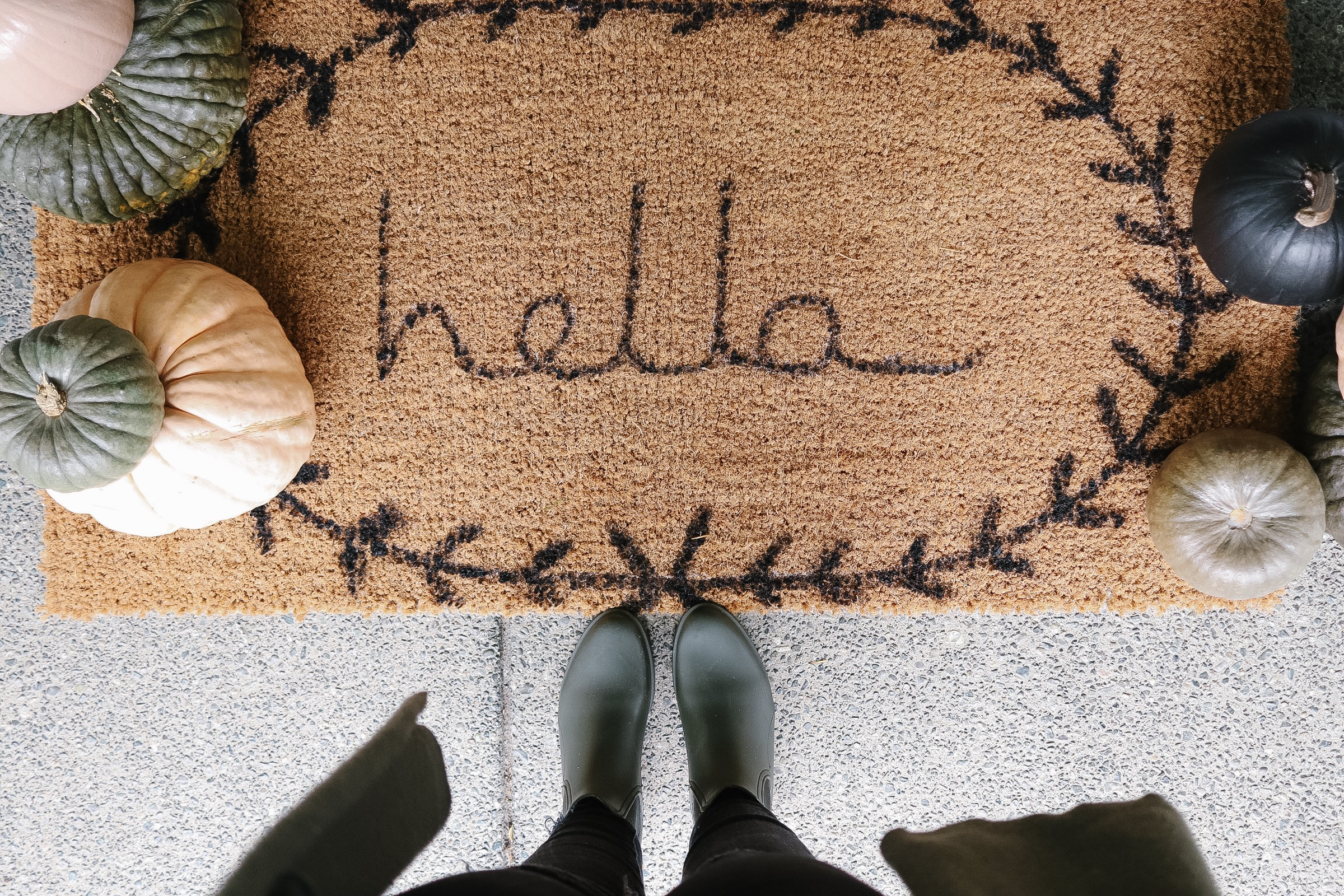 DIY Front Door Mat