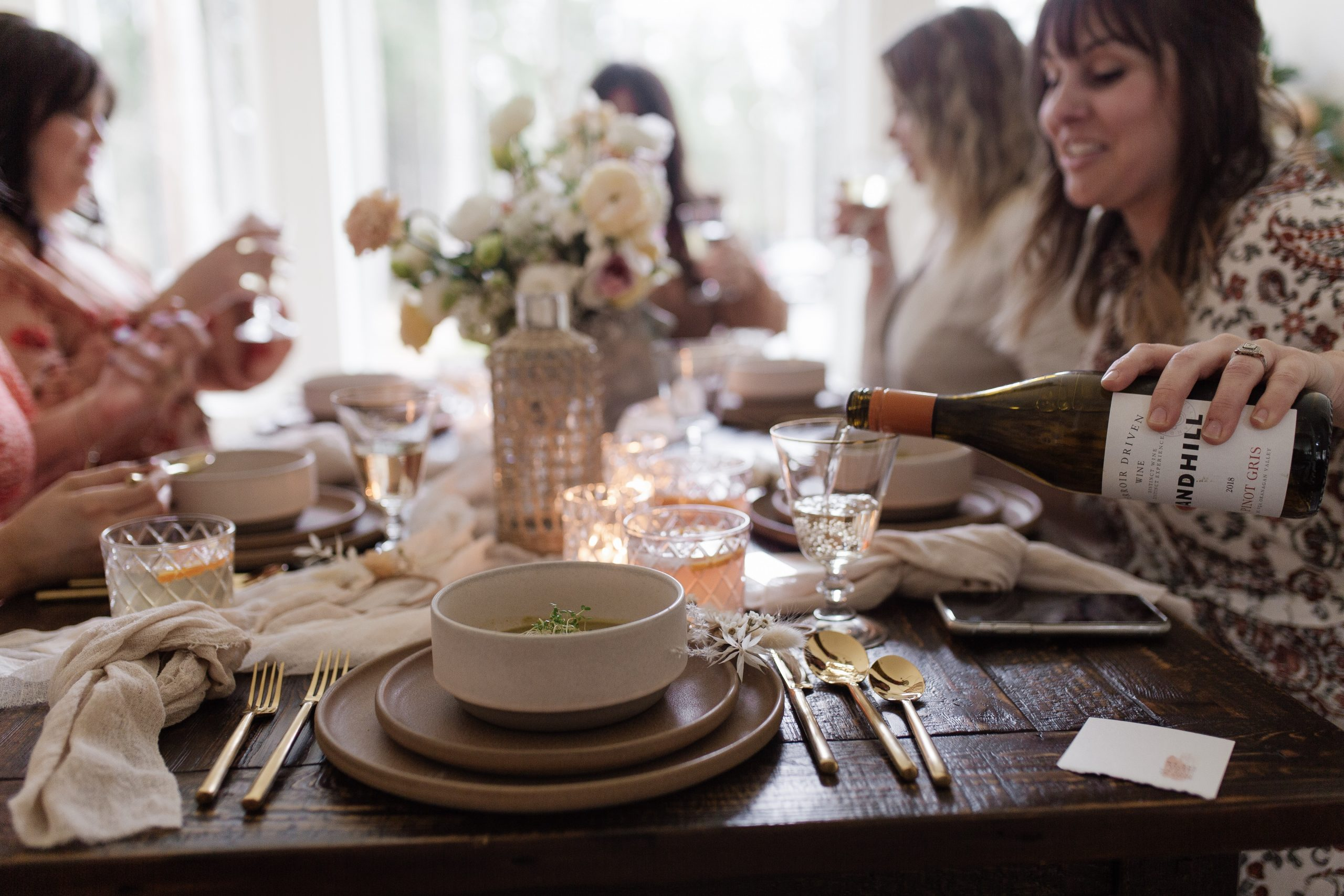 Flowers and Wine – A Galentines Gathering