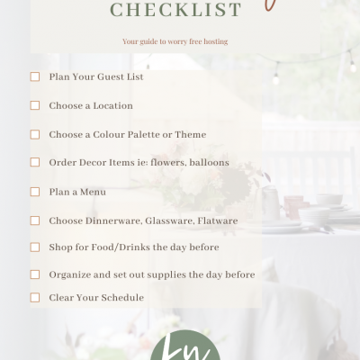 Dinner Party Checklist – Your Guide to hosting