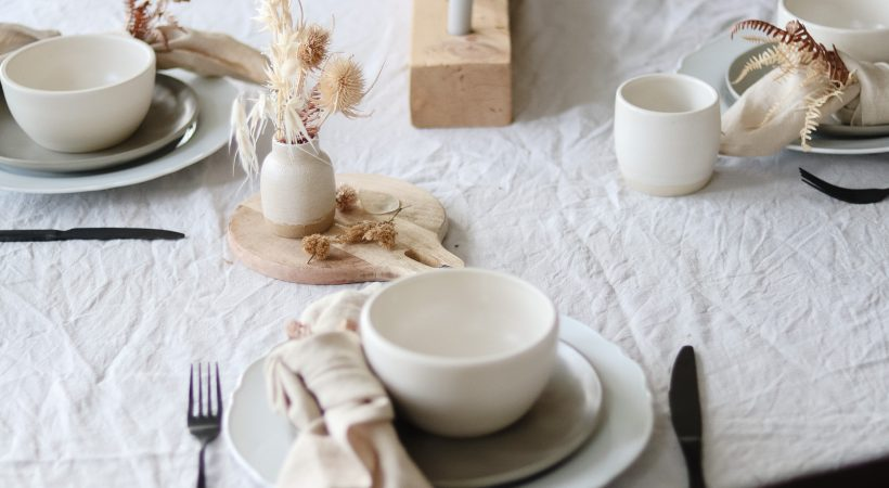 Rich and Earthy Neutral Tablescape